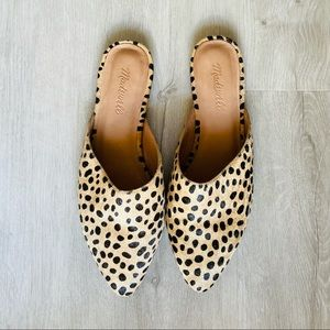 MADEWELL REMI CALFHAIR MULES SZ 8.5
